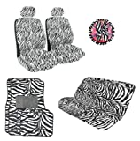 51L7M8DKZzL. SL160  12 Piece Safari Zebra Animal Print Auto Interior Gift Set