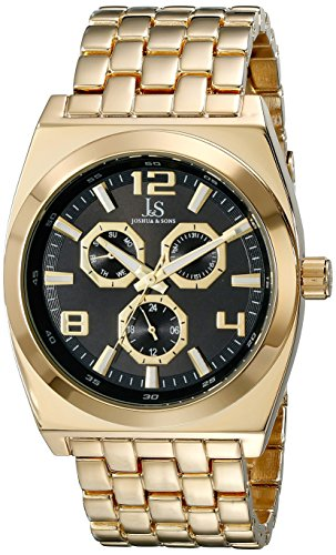 Joshua & Sons Hombre Analógico Pantalla cuarzo reloj, color dorado