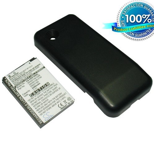 Extended High Capacity 2200mah Phone Battery for HTC Tmobile Google G1 G-1 + Black Cover