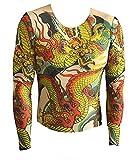 (テゾーロ)TESORO コスプレタトゥ タイツ ロンT 龍 ドラゴン 入れ墨 面白 Tシャツ 外国人 お土産 イベント