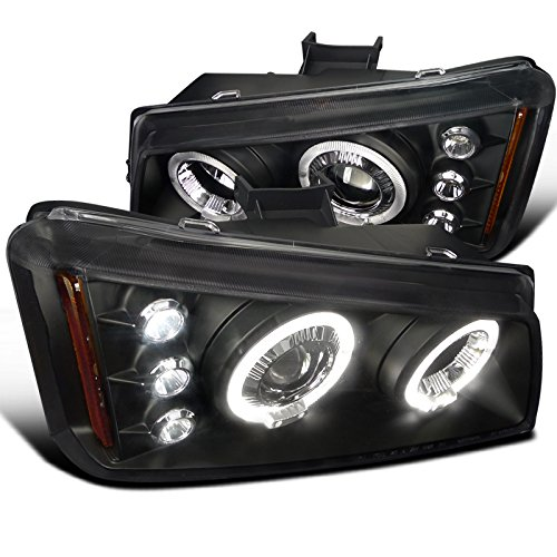 Spec-D Tuning 2LHP-SIV03JM-TM Chevy Silverado Avalanche Black Halo Led Projector Headlights (Chevy Silverado Headlights Halo compare prices)