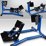 BITUXX® Motorrad Montageständer vorne Motorradständer Wippe Transportständer Vorderrad Blau
