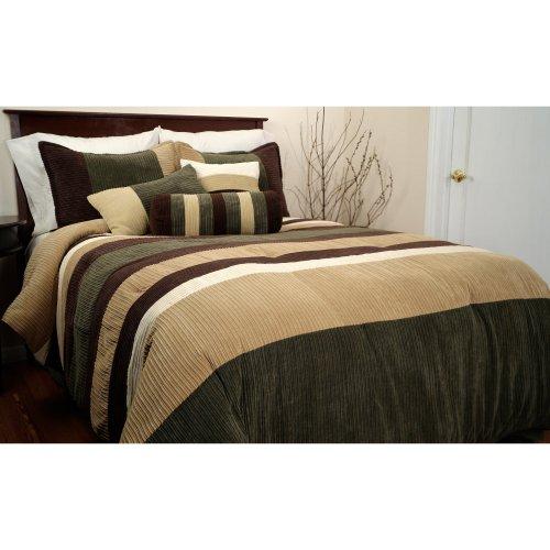 Epoch Hometex, Inc Geo King Bed Set, Olive front-240796