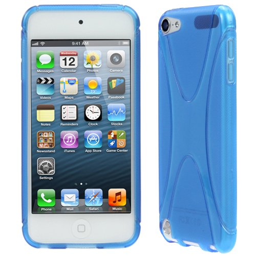 Evecase Ipod Touch 5 Case, Solid Flexible X-Line Tpu Rubber Gel Case Skin Cover For Apple Ipod Touch 5 5G 5Th Generation (2012 Version) (Blue)