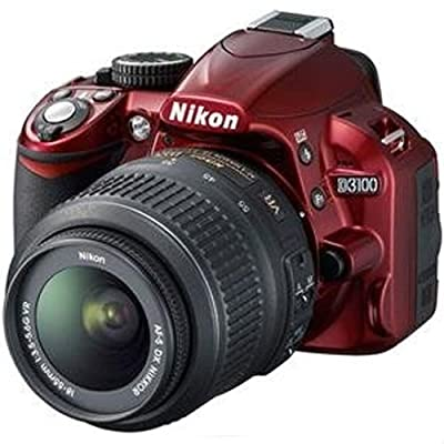 Nikon D3100 Digital SLR Camera & 18-55mm G VR DX AF-S Zoom Lens (Red)