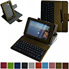 Mama Mouth Rotary Stand PU Leather Case Cover With Removable Micro USB Keyboard for 7 Verizon Ellipsis 7 4g LTE (QMV7A) Android Tablet Glod