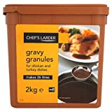 Chef's Larder Gravy Granules for Chicken and Turkey Dishes 2kg (Pack of 4)
