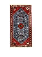 L'Eden del Tappeto Alfombra Abadeh Rojo / Azul 100 x 192 cm