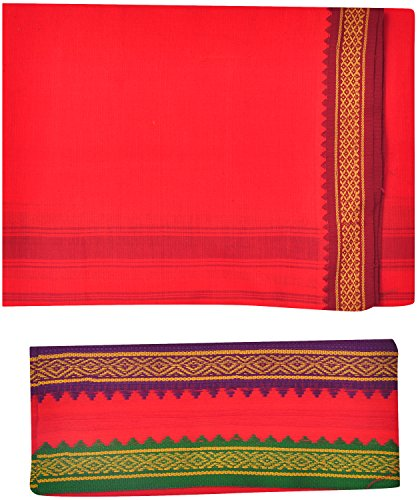 Indhirani-Mens-Cotton-Thalapathy-Dhoti-With-Towel-Red