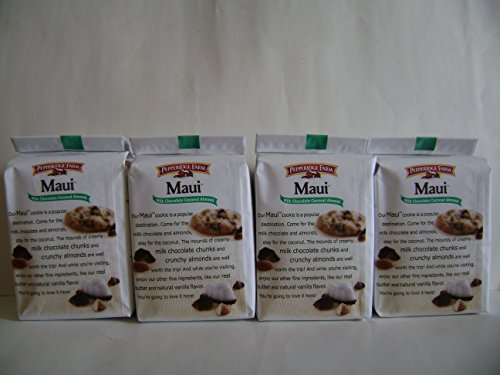Pepperidge Farm Maui Milk Chocolate Coconut Almond Chocolate Chunk Crispy Cookies (Pack of 4) pepperidge farm maui milk chocolate coconut almond chocolate chunk crispy cookies pack of 4