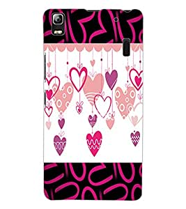 ColourCraft Love Hearts Design Back Case Cover for LENOVO K3 NOTE