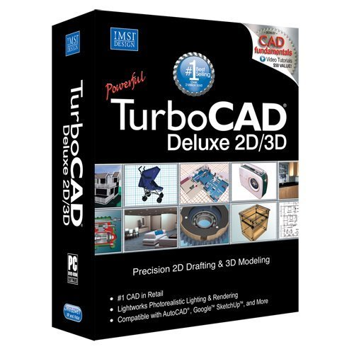 TurboCAD Deluxe 19 2D Design & 3D Modeling CAD Software (3d Modeling Software compare prices)