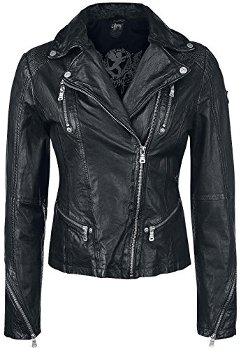 Gipsy Happy Silver Giacca pelle donna nero XXL