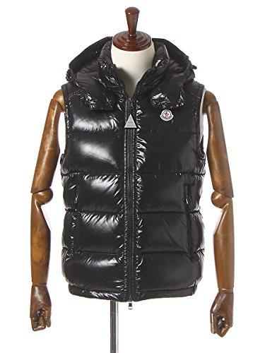 (モンクレール) MONCLER ナイロン100% 胸ロゴワッペン フード付き フルジップ ダウンベスト LACET [【MCLACET6】] ブラック(999) / 4XL [並行輸入品]