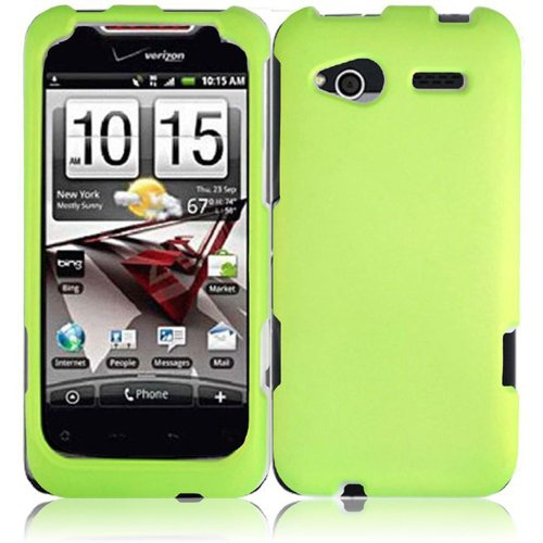 Cell Accessories For Less (Tm) For Htc Radar 4G Rubberized Cover Case - Neon Green - By Thetargetbuys *Free Shipping*