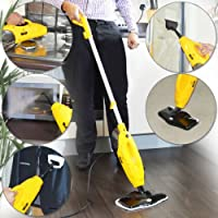 Wolf 5 in 1 1200w Super Heated Floor and Hand Held Steam Cleaner - Complete with 2 x Floor Cloths, 2 x Upholstery Cloths