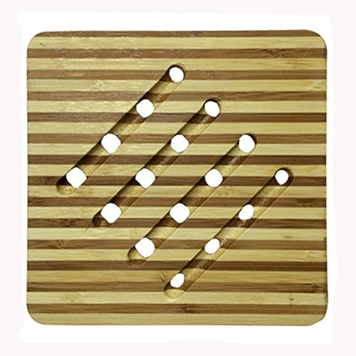 Fashionable Moso Bamboo Place Mat/ Cup Mat/ Pot Holder, Set of 4
