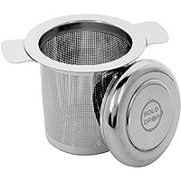 BoldDrop Stainless Steel Fine Filtering Loose Leaf Tea Infuser Basket for Cups and Mugs