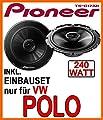 VW Polo 9N & 9N3 - Lautsprecher - Pioneer TS-G1732i - 16cm Einbauset von just-SOUND bei Reifen Onlineshop