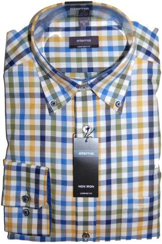 Eterna Casual Mens Shirt 3016/45 E244 (XX Large 45/46)