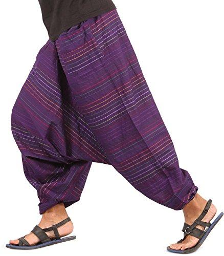ths-mens-baggy-yoga-hippie-boho-aladdin-alibaba-harem-pants-one-size-handmade-purple-style-i