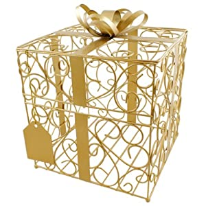 Wedding Gift Card Amazon : Amazon.com: Cathys Concepts Reception Gift Card Holder, Gold: Home ...