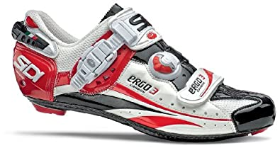 885724de0d3b8 Sidi Ergo 3 Vent Carbon Shoes Men s (WhiteBlackRed Vernice) (Reg Width)  Shoes