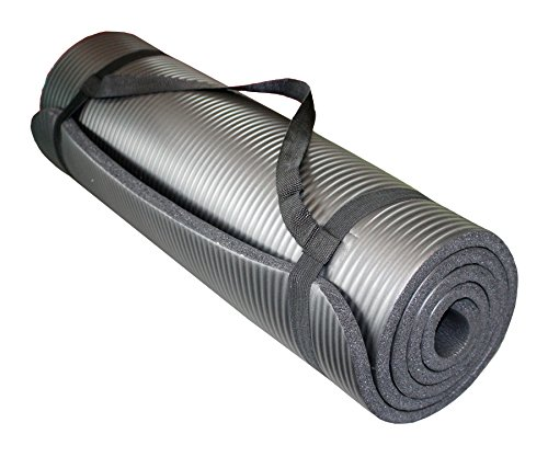 Yogamatte Pilates Gymnastikmatte 190 X 60 X 1 5 Cm Schwarz