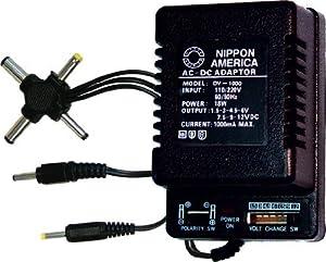 Universal AC Power Adapter Polarity Switchable 1.5V 3V 4.5V 6V 7.5V 9V & 12V 1000ma