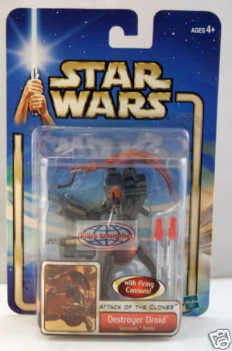 Buy Low Price Hasbro Star Wars Attack Of The Clones Destroyer Droid With Firing Cannons Geonosis Battle Action Figure (B003MNRUTQ)