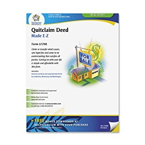 Adams Quitclaim Deed Forms and Instructions, 8.5 x 11 Inch, White (LF298)