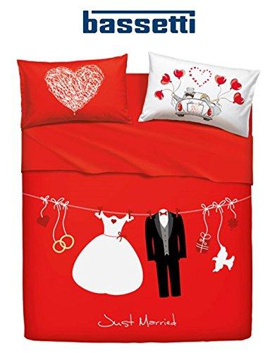 Completo letto copriletto Bassetti Home innovation MATRIMONIALE Art. LOVE IS A COUPLE