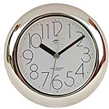 Water Resistant Wall Clock with Quiet Sweep Movement
