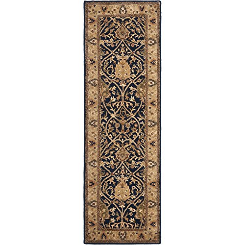 Safavieh Persian Legend Collection PL819C Handmade Blue and Gold Wool Runner, 2 feet 6 inches by 8 feet (2'6