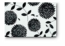 Citta Design 'Kiku' 18x12in Rectangular Placemats, Ink, Pack of Four High Grade Polymer Placemats