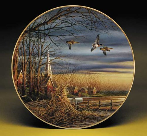 Harvest Blessings by Terry Redlin 8.25 inch Decorative Collector Plate