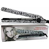 RoyalCraft TM Luxury Wild Collection - Professional Ceramic Tourmaline Flat Iron Hair Straightener in Classic Zebra Style