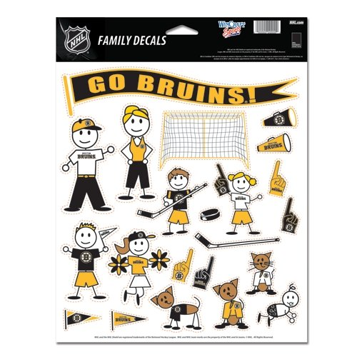 Buy Boston Bruins Official NHL 11x17 Family Car Decal by Wincraft by WinCraft