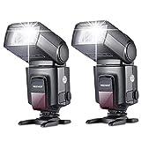 Neewer®TT560 Zwei Blitzgerät Blitz Speedlite Set für Canon Nikon Sony