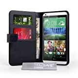 Yousave Accessories HTC Desire 816 Case Black PU Leather Wallet Cover