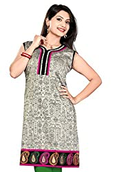 Karan Kurtis Womens Cotton Silk Aline Kurta (Kurtis-0240-4Xl_White)
