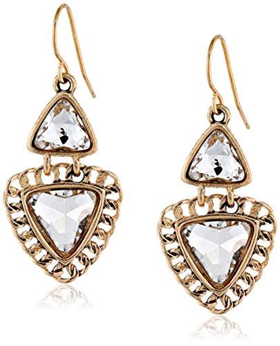 Sam Edelman Double Crystal Stone Drop Earrings