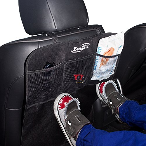 BEST CAR SEAT COVERS KICK MATS By ZenKid (2 Pack) - Universal Backseat & Seat Back Protectors For Your Vehicle, Truck, SUV - MUST HAVE Car Accessory! (Car Mats Rav4 compare prices)