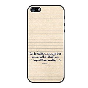 Vibhar printed case back cover for Apple iPhone 5s Learned