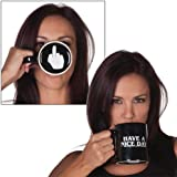 Vansaile Have a Nice Day Coffee Mug Middle Finger Funny Cup for Coffee Milk Juice or Tea Cups