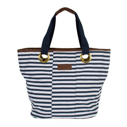 Valverde Large Nautical Canvas Tote Bag by PIA ROSSINI -- Beach Collection