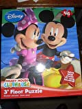 Disney Mickey Mouse Clubhouse 3 Foot Floor Puzzle Mickey and Minne