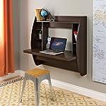 Prepac Espresso Floating Desk with St...