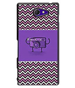 Printvisa 2D Printed Cartoon Designer back case cover for Sony Xperia M2 - D4274