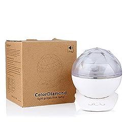 SUPERNIGHT Crystal White Colorful Diamond Polar Mood Creator Light, Aurora Polaris Ocean Wave Projection Lamp with Speaker for KTV,Nightclub